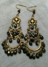 pair of 3 Tier & 1 Pair 2 Tier Tear Stone Dark Blue Chandler Earrings Hook x 2 1