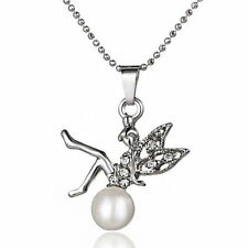 Crystal Chain Pearl Unbranded Costume Necklaces & Pendants