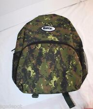 Neon Green Digital Camo Backpack ESKY Brand 4 Pocket Military School Bag Style