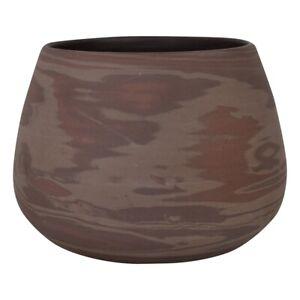 Niloak Art Pottery Mission Swirl Dark Brown Jardiniere Vase