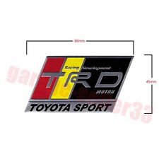 Toyota TRD Logo Aluminum Emblem Badge 86mmx45mm