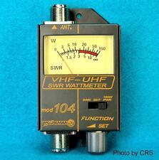 Swr / Power Meter For Vhf / Uhf Ham Radio 120 - 500 Mhz 150 Watt - Workman Model