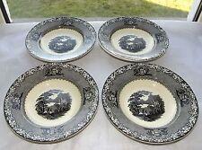Vintage Royal Staffordshire A J Wilkinson c1930s  4 x Jenny Lind Soup  Bowl