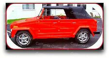 1973-78 VW Thing Convertible Top And Rear Window - BLACK - MADE IN CALIFORNIA