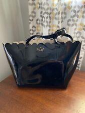 Kate Spade Medium Black Leather Scallop Top Hand Bag Purse