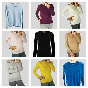 Marks & Spencer Womens Supersoft Round Neck Side Split Knit Jumper 10 Colours