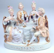 PLAYING CARDS. BISCUIT WITH MOVING PARTS. ROCOCO STYLE. FRANCE. 19TH CENTURY.