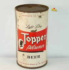 1960's Topper Man New York Flat Top! Ny Beer Can Standard-Rochester N.Y. Top Hat