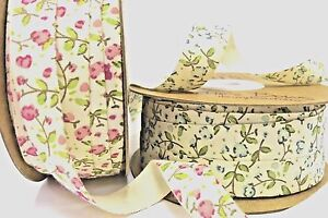 Tilly's Floral Print Cotton 18m Ribbon by Bertie's Bows