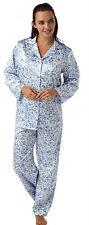 Satin Long Sleeve Floral Lingerie & Nightwear for Women