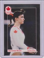 RARE 1992 CANADA SUMMER OLYMPIC JENNIFER WOOD GYMNASTICS ROOKIE CARD #21