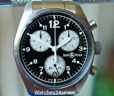 Bell & Ross Vintage 120 Chronograph in stainless steel 38mm, RETAIL $3,500
