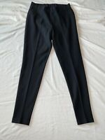 Women's CHICO'S Black Stretch Elastic Waist Skinny Fit Pleated Pants (Size 1)