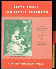 EC vintage SIXTY SONGS For LITTLE CHILDREN Sheet Music Book OXFORD University Pr