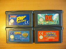 LOT PACK ASTERIX, DONKEY KONG, SONIC, POKEMON - GAMEBOY ADVANCE