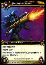 WOW Warcraft TCG ARCHIVES FOIL : MARKSMAN GLOUS X 4