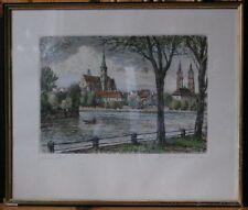 Colorierte aguafuerte WRO firmado Silesia