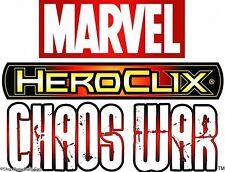 HEROCLIX CHAOS WAR Masque Dupicate 007 Madame Masque 017 (Maggia, Robot) LOT X 3