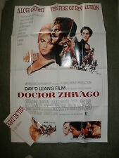 """DOCTOR DR ZHIVAGO"" - Large Film Poster (40"" x 27"") Professionally Folded - NEW"