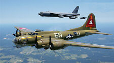 "B-17 BOMBER B-52 BOMBER MILITARY AIR FORCE 24"" x 43""  LARGE HD WALL POSTER PRINT"