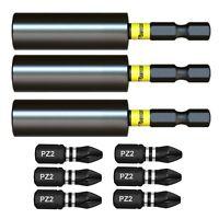 SabreCut Professional Magnetic Impact Bits Screwdriver Bit Holder x 3 Milwaukee