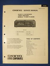 ONKYO TX-860 M TUNER AMP SERVICE MANUAL ORIGINAL FACTORY ISSUE THE REAL THING