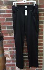Cache Black Boot Cut Stretch Satin Dress Pants Size 12 34 x 34 NWT $118