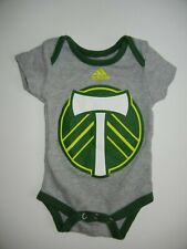Adidas PORTLAND TIMBERS Team Club Gray MLS SOCCER BABY SUIT Sz Newborn 0/3 MONTH