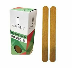 "Tachibelle Made in Korea Professional Gold Wood Emery Board Nail File 7"" Long..."