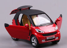 1:24 SMART Alloy Car Model Pull Back Vehicles Kids Toy With Sound and Light RED