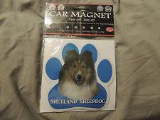 """Shetland Sheepdog Dog Paw Car Fridge Flexible Magnet 5"""" UV Coated New Sealed"""