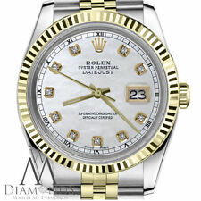 White Mother of Pearl Face Rolex 31mm Datejust 18K 2 Tone Diamond Jubilee Watch