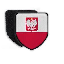 Patch Polen Warschau Warszawa Polska Stolz Aufnäher Fahne Wappen Abzeichen#21930