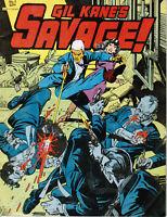 "GIL KANE's SAVAGE! (8.5x11"" SOFTBOUND GRAPHIC NOVEL COMIC BOOK Fantagraphics `82"
