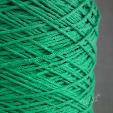 GREEN SHADES SOFT DOUBLE KNITTING COTTON YARN *BIG* 500g CONE DK CROCHET WEAVING