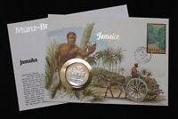 JAMAICA DOLLAR 1982 COIN COVER A98 WWF174