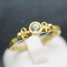 Handmade Hammered Designer Diaspore Ring 24K Gold Over 925K Sterling Silver