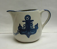 LOUISVILLE POTTERY - ANCHOR / SHIP'S WHEEL Pattern - MILK / WATER PITCHER