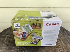 Canon CP-200 Card and Photo Printer In Box w/ Cables, Manual and Paper