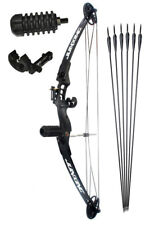 Junxing 30-40lb Compound Bow Hunting Target Black Beginner package arrows