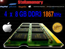 "5K 2015 27"" iMac 17,1 32GB Memory Kit 4x 8GB DDR3 1867MHz Ram PC3L-14900 1866"