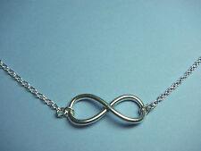 """Gran símbolo de Infinito Colgante Collar de la amistad Eternal Love 18"""""""