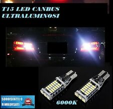 FORD FIESTA MK7 6000K LAMPADE RETROMARCIA A LED T15 W16W CANBUS FREE ERROR