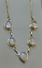 "Moonstone & 925 Silver Necklace  17 1/2""   13.3g"