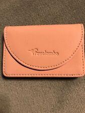 Travelambo Leather Business Card Holder  Magnetic Shut (Napa Pink Lotus)