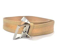 New Calvin Klein Tan Snakeskin Leather Belt Womens Size Medium