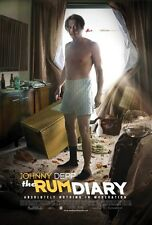 RUM DIARY -2011- Original 27x40 movie poster - JOHNNY DEPP is drunk & SHIRTLESS!