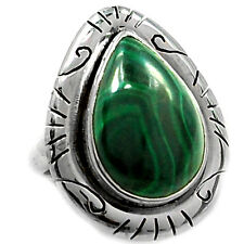 Malachite 925 Sterling Silver Ring Jewelry s.7 MALR615