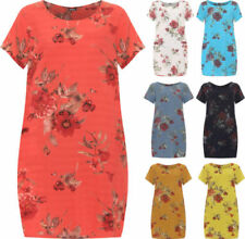 Floral Shirt Dresses for Women with Pockets