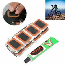 48Pcs Tire Tyre Piece Glue Tube Rubber Puncture Patch Kit Bike Repair Tool